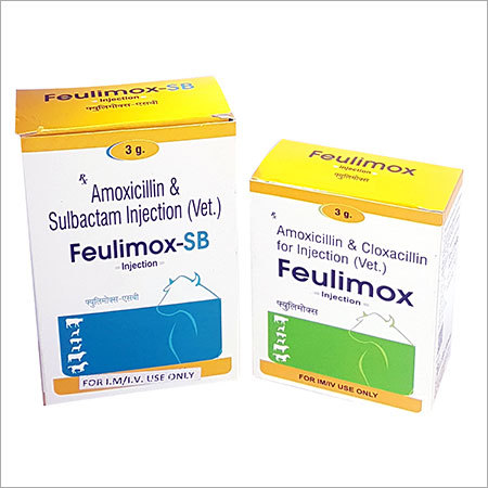 Amoxicillin Sulbactam Veterinary Injection IP