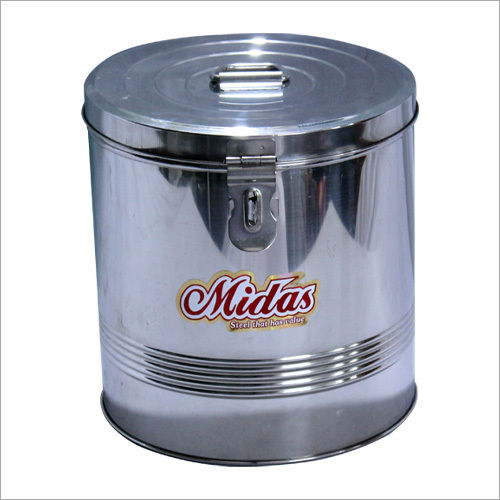 SS Round Grain Container