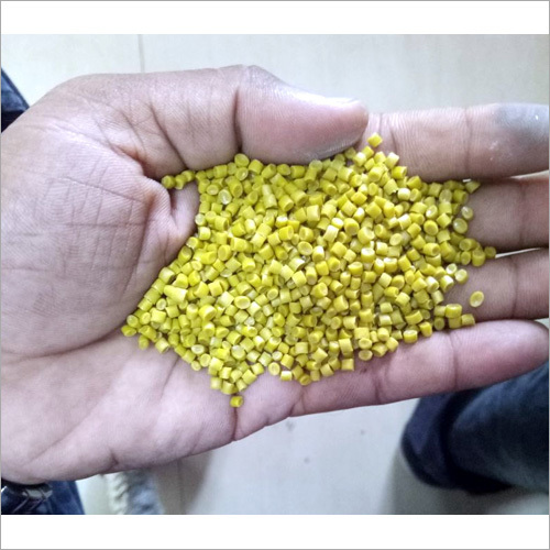 Recycled Yellow HDPE Plastic Granules