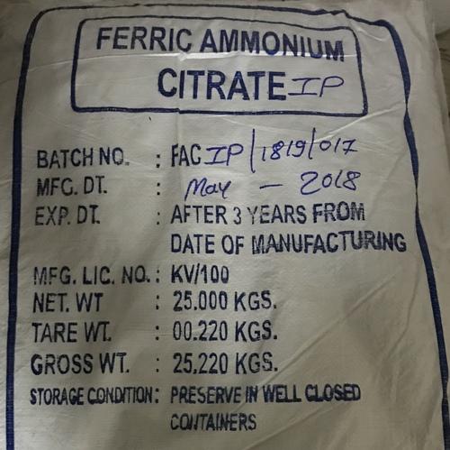 Ferric Ammonium Citrate I.P.