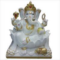White marble Ganpati Ji