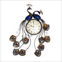 Peacock Vintage Clock