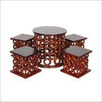 Designer Wooden Table Chair Set