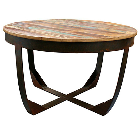 Industrial Coffe Table Round Top