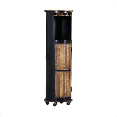 Industrial Circular Wine Rack
