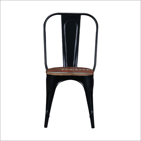 Black Tolix Wooden Top Chair