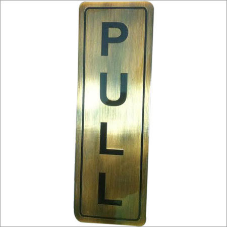 Door Pull Sign Engraving Service