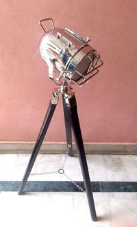 Chrome Floor Lamp With Black Fix Stand
