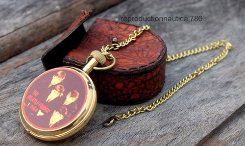 Vintage Fashion Brass Pocket Watch