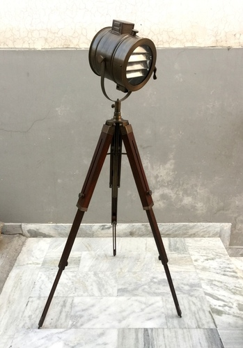 Nautical Grill Floor Lamp With Adjustable Floor Tripod Searchlight ...