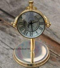 Nautical Solid Brass Clock Collectible Desktop Working Clock Vintage Decorative