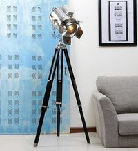Nautical Chrome Searchlight With Tripod Stand Flap Cover Lamp