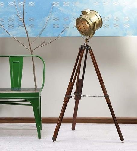 Antique Finish Nautical Floor Lamp Spotlight Searchlight