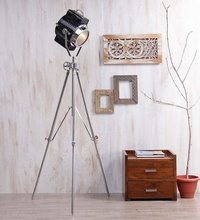 Chrome Big Tripod Floor Lamp