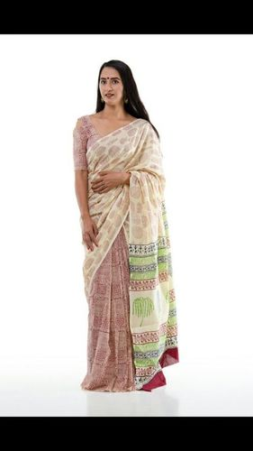 Sanganeri Print Pure Cotton Saree