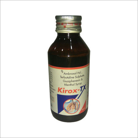 Kirox-Tx Syrup (Ambroxol Hcl., Terbutaline Sulphate, Guaiphensin & Menthol Syrup)