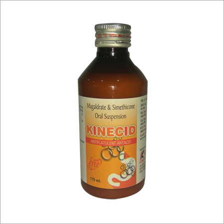 Kinecid Syrup (megalderate 400 mg+simethicone 20mg suspension)