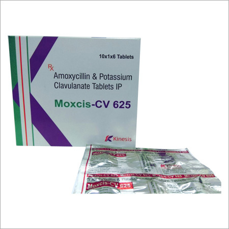 Moxcis Cv 625 Tablet (Amoxycillin 500 Mg & Potassium Clavulanate 125 Mg Tablets)