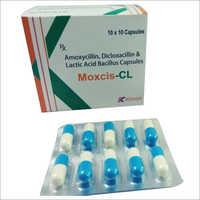 Moxcis-Cl Capsules (Amoxycillin 250 Mg, Dicloxacillin 250 Mg & Lactic Acid Bacillus Capsules)