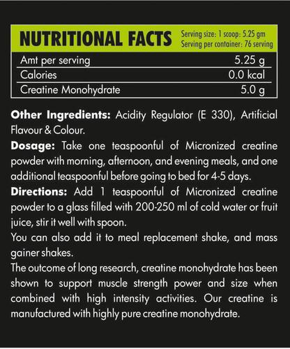 Saillons Creatine Monohydrate Powder