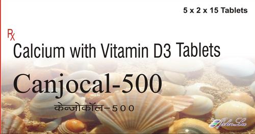 Calcium Carbonate IP 250  with Vitamin D3 125 IU