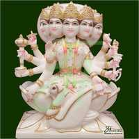 Panchmukhi Gayatri Mata Marble Statue