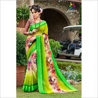Ladies Floral Print Saree