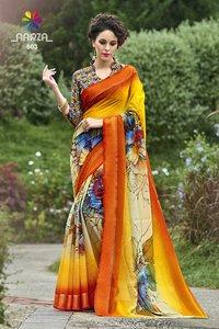 Ladies Border Print Saree