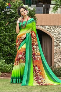 Ladies Bodrer Digital Print Party Wear Saree