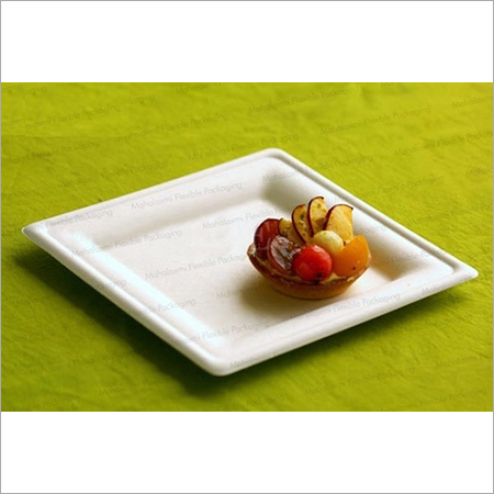 Biodegradable Square Plate