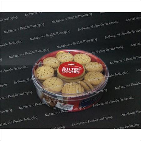 Round Plastic Cookie Container