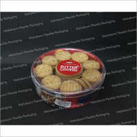 Round Plastic Cookie Container