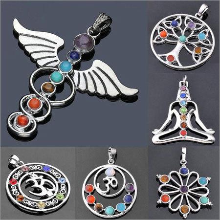 Seven Chakra Metal Pendants