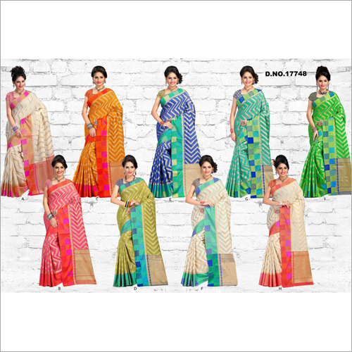 Ladies Chanderi Cotton Silk Saree