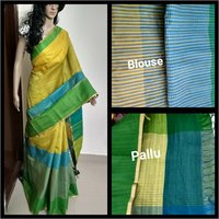 Ladies Linen Silk Saree