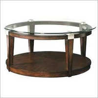 Table Stool With Glass