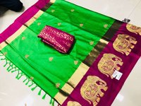 Buy Pure Cotton Silk Saree Catalog by Aura From Sethnic Supplier & Dealer