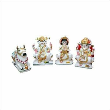 White Marble Shiv Pariwar Statues