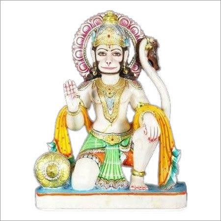 White Marble Hanuman Ji Statue