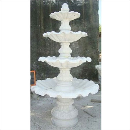 White Marble Garden Fountain