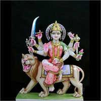 White Marble Durga Ji Statue
