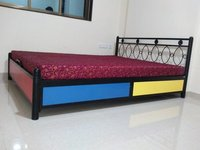 Metal Storage Bed