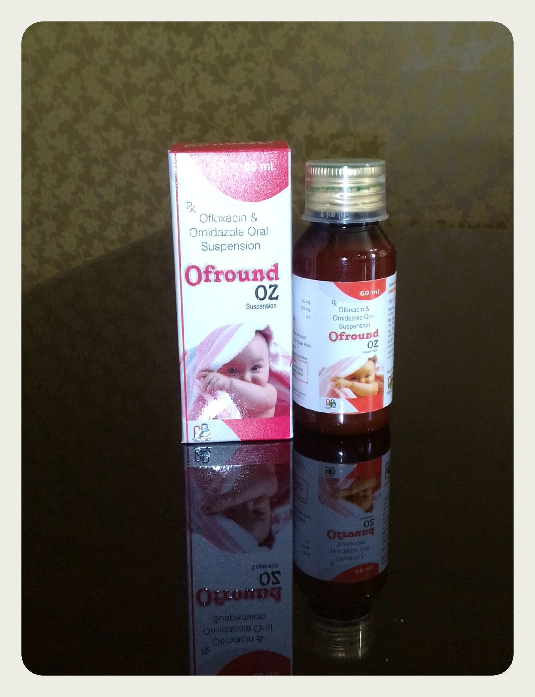 Ofloxacin with ornidazole Suspensions