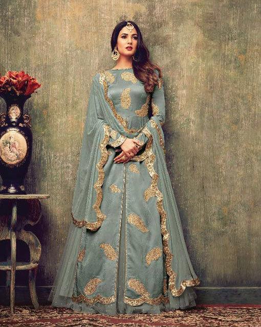 Rangoli with banarasi embroidery salwar suit