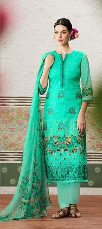 Latest Designer Cotton Satin Dress material
