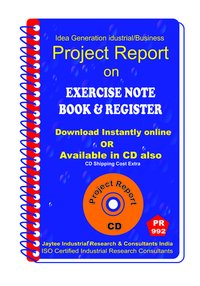 Exercise note book and Register manufacturing eBook