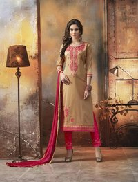 Multicolour Cotton Embroidey Salwar Suit