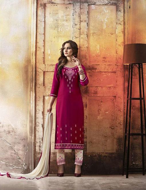Multicolour Cotton Embroidey Salwar Suit