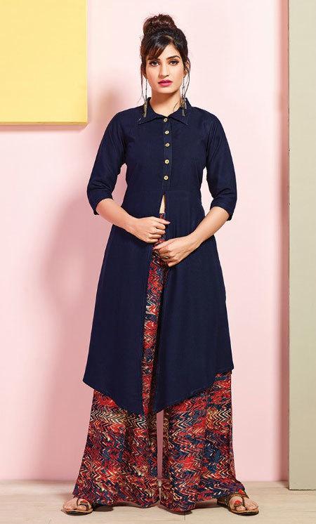 Multicolour Rayon printed stylish kurti