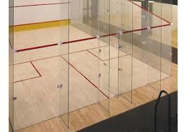 Glass Back Wall for Squash Court